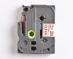 Páska BROTHER TZE-132 průsvitná / červená 12mm