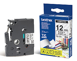 Páska BROTHER TZE-131 průsvitná / černá 12mm