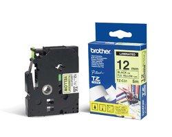 Páska BROTHER TZE-C31 signální žlutá 12mm