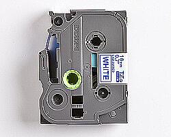 Páska BROTHER TZE-243 bílá / modrá 18mm