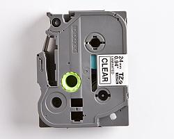 Páska BROTHER TZE-151 průsvitná / černá 24mm