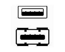 Kabel USB A-A 1.8m prodlužovací