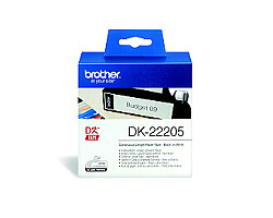 Role BROTHER DK-22205 papírová bílá 62mm