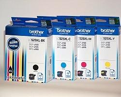 Inkoust. náplň BROTHER LC-525XLC modrá