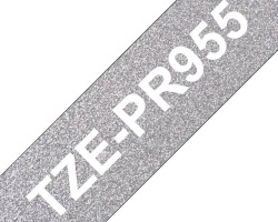 Páska BROTHER TZE-PR955 exkluzivní stříbná 24mm