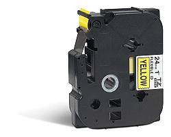 Páska BROTHER TZE-FX651 žlutá / černá 24mm