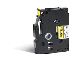 Páska BROTHER TZE-FX641 žlutá / černá 18mm