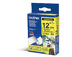 Páska BROTHER TZE-FX631 žlutá / černá 12mm