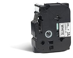 Páska BROTHER TZE-FX251 bílá / černá 24mm