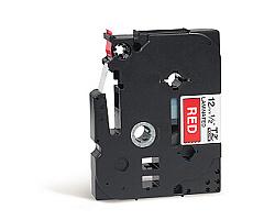 Páska BROTHER TZE-435 červená / bílá 12mm