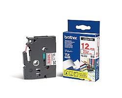 Páska BROTHER TZE-232 bílá / červená 12mm