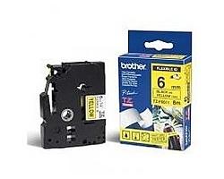 Páska BROTHER TZE-FX611 žlutá / černá 6mm