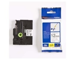 Páska BROTHER TZE-FX231 bílá / černá 12mm