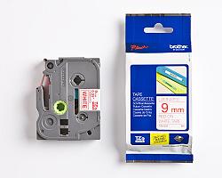 Páska BROTHER TZE-222 bílá / červená 9mm