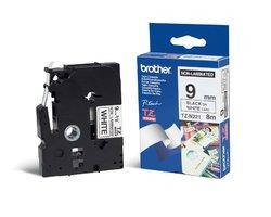 Páska BROTHER TZE-N221 bílá / černá 9mm
