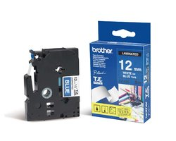 Páska BROTHER TZE-535 modrá / bílá 12mm