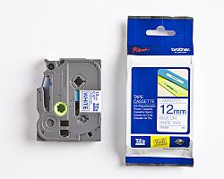 Páska BROTHER TZE-233 bílá / modrá 12mm