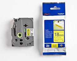 Páska BROTHER TZE-S641 žlutá / černá 18mm