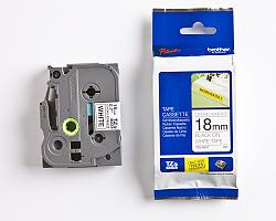 Páska BROTHER TZE-S241 bílá / černá 18mm