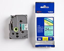 Páska BROTHER TZE-751 zelená / černá 24mm