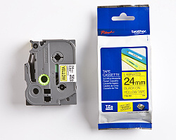 Páska BROTHER TZE-651 žlutá / černá 24mm