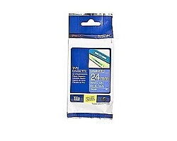 Páska BROTHER TZE-555 modrá / bílá 24mm