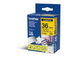 Páska BROTHER TZE-661 žlutá / černá 36mm